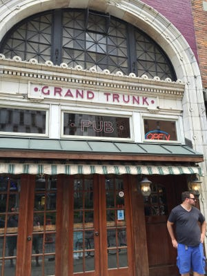 Robert Allen, 31, about to enter Grand Trunk Pub the afternoon of July 31, 2015 on Woodward in downtown Detroit.