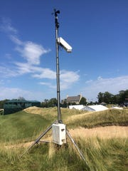 PGA meteorologist Brad Nelson has technology on site
