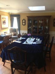 The Blue Room at The White House in Oakhurst is sunny and welcoming.