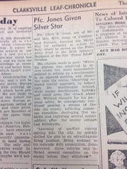 Article in the Aug. 16, 1945, edition of The Leaf-Chronicle.