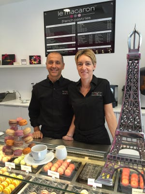 Axel and Sandrine Chagnot, owners of Le Macaron French Pastries.