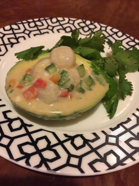green curry scallop ceviche