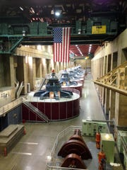 Generators are seen inside the Hoover Dam, located on the Colorado River, on the border between Arizona and Nevada. It's considered one of America's great civil engineering wonders. Located about a half-hour from Las Vegas, it's a top destination for visitors to the region.