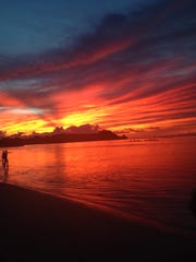 Deejay Basa shares this photo of the Ypao sunset.