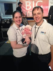 Tyler, Kim and newborn Lucy Ortego celebrate ORA Estuaries'