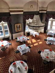 Once a reading room, this towering second floor space is now used for fine dining. The Montana Club has its own chef, one of the finest in the state.