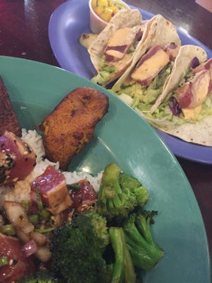 Next time you visit a Long Doggers, try the Ahi Tuna Poke Bowl or the Peppercorn Seared Tuna Tacos.