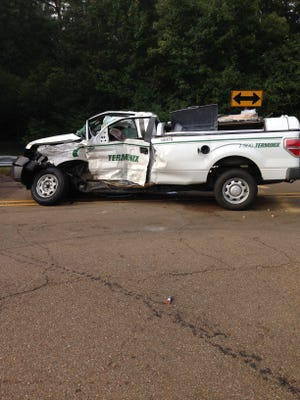 This truck was involved in a fatal accident in Simpson County this morning.