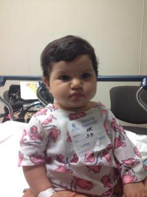 Isabella Varela at the Salinas Valley Memorial Hospital as she continued treatment for cancer.