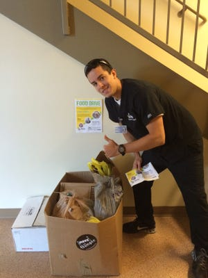 Moorestown's Chris Carlino started a monthlong food drive.