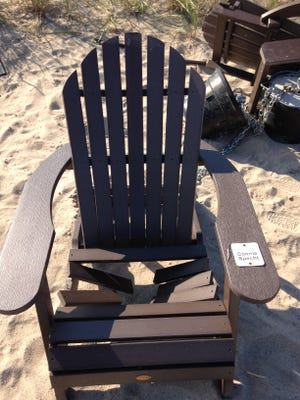 A beach chair at Red Arrow Park was vandalized earlier this month.