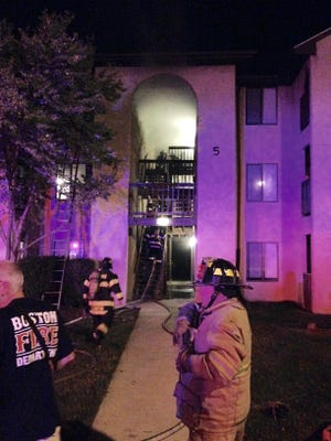 The Christiana Fire Company responded to a fire at an apartment building on the 500 block of Bedford Lane near New Castle early Friday morning.