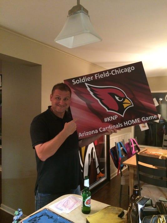 Longtime Arizona Cardinals fan Pete Zolkiewski