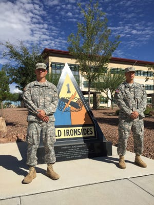 Sgt. Anthony Spall, left, and Spc. Jonathan Kao are the NCO and Soldier of the Year at Fort Bliss and the 1st Armored Division.