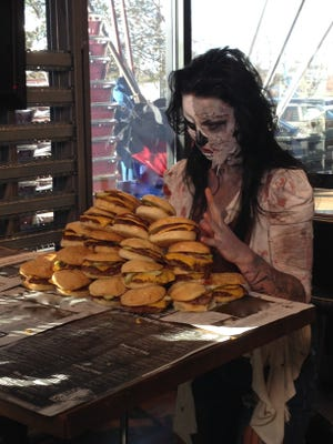 Zombie Burger appears on a Halloween special coming up on the Food Network.
