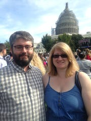 Matt and Gillian Fletcher drove all night to be in Washington for the pope's speech Thursday. Gillian Fletcher, an Indianapolis Public Schools history teacher, is planning a PowerPoint presentation of the trip for her students.