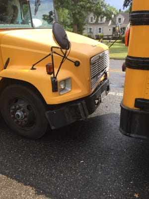 Minor damage was reported after a Sept. 10. collision between two Vineland Board of Education school vehicles.