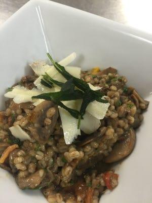 Chef Shawn Calley's mushroom barley risotto.