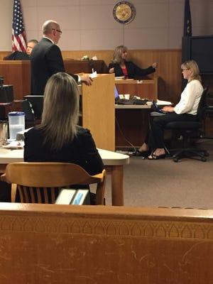 Barbara Watson, a crash reconstruction expert, testified Thursday that evidence shows that Adam Sanchez Jr. struck Deputy Joe Dunn with this car on purpose.