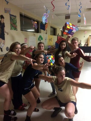 Running late for the homecoming dance Saturday, after playing Sandia Prep for the championship at the Peyton Chavez Memorial volleyball Tournament, many Ruidoso players opted to dance in their uniforms.