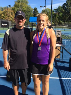 Desert Hills' Madz Eames took second place during the 3A state tennis tournament at Liberty Park on Saturday.