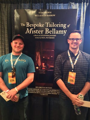 """The Bespoke Tailoring of Mister Bellamy"" won the 2015 Louisiana Film Prize short film competition in Shreveport. Writer/producer Paul Peteren (left) and Alexander Jeffery (right) won the $50,000 cash prize, film distribution deals and more."