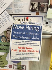 Gap Inc. flyer announcing job openings.