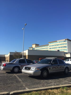 Jeffersontown Police investigate outside of the Holiday Inn in Jeffersontown following the fatal shooting of a man by two officers Oct. 20.