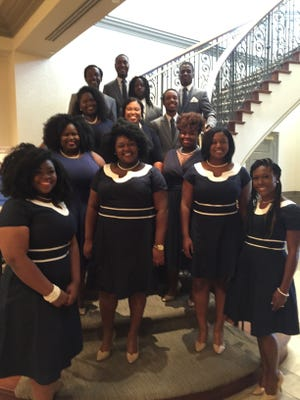 """Trebled Soul, an a cappella group at Alabama State University, performed as a highlight of Thursday's """"Pure Imagination"""" luncheon hosted at the Capital City Club by the Ladies Social Committee."""