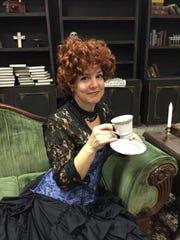 Sarah Butzen plays Mrs. Harker.