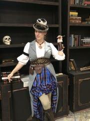Rebecca Hodder plays Dr. Van Helsing.