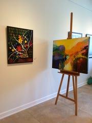 Paintings at Venvi Art Gallery by Brinda Pamulapati