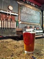A Pioneer Pale Ale is served at H.A. Brewing outside Eureka.