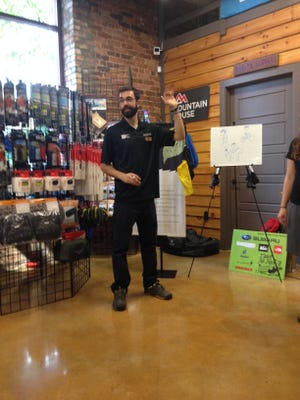 Andy Mossey conducts Leave No Trace workshop at The Local Hiker in Spartanburg