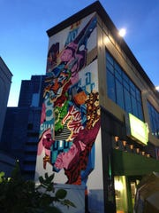 The 50-foot mural in Tumon painted by street artist