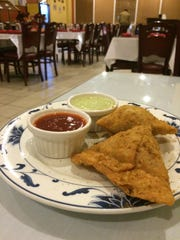Chicken samosas at Taj Mahal in Urbandale.