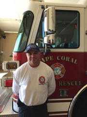 Kevin Haines, Cape Coral Firefighter of the Year.