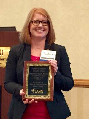 New Albany-Floyd County Schools Health Services Coordinator was named School Nurse Administrator of the Year.