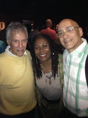 Allan Rich (right) with fellow songwriters Burt Bacharach and Brenda Russell.