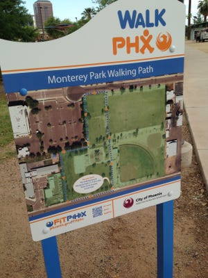 The WalkPHX program gives walkers a marked trail with distances to keep track of how you're doing.