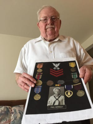 Paul Kennedy, 95, was serving in the Navy at Pearl Harbor on Dec. 7, 1941.