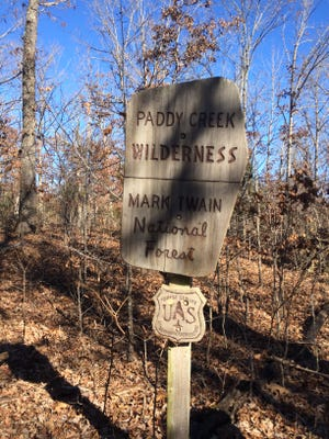 Paddy Creek Wilderness area is located south of Fort Leonard Wood.
