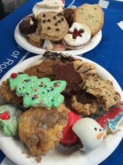 With 38 cookies to taste, the judges took little nibbles of each cookie.