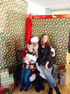 Jack and Christine Coppa with Santa.