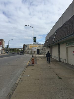 Looking east on Long Branch's Lower Broadway corridor.