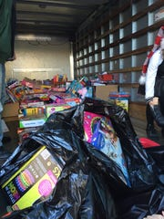 Jenna Dumanski's toy drive for the kids at CHOP collected