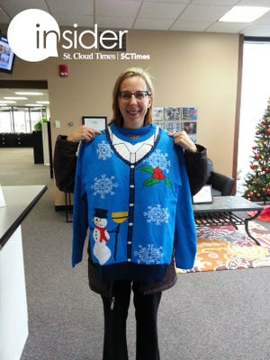 Mary Evens, ugly sweater winner