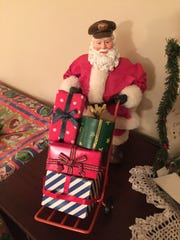 Carol White has collected Santa figures for nearly 40 years.