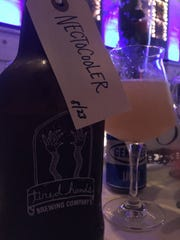 Tired Hands Brewing, based in Ardmore, Pennsylvania, is a wheat Berliner weisse with smoked nectarines.