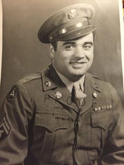 A photo of Frank Buffone in uniform when he served in the U.S. Army during World War II.